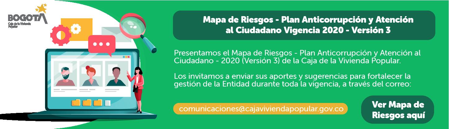 Banner Matriz de Riesgos 2020- Plan Anticorrupción y Atención al Ciudadano V3