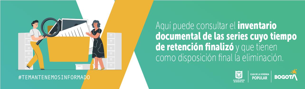 Descarga el Inventario Documental de las series cuyo tiempo de retención finalizó