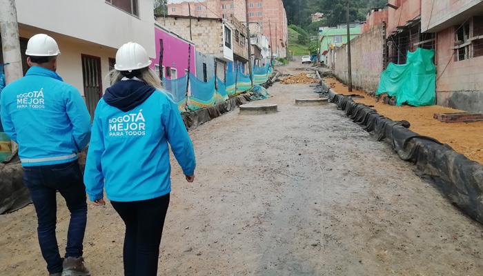 Así avanzan obras de Mejoramiento de Barrios en el sur de Bogotá