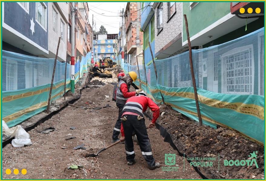Obras de mejoramiento de barrios en 11 barrios del sur de la ciudad