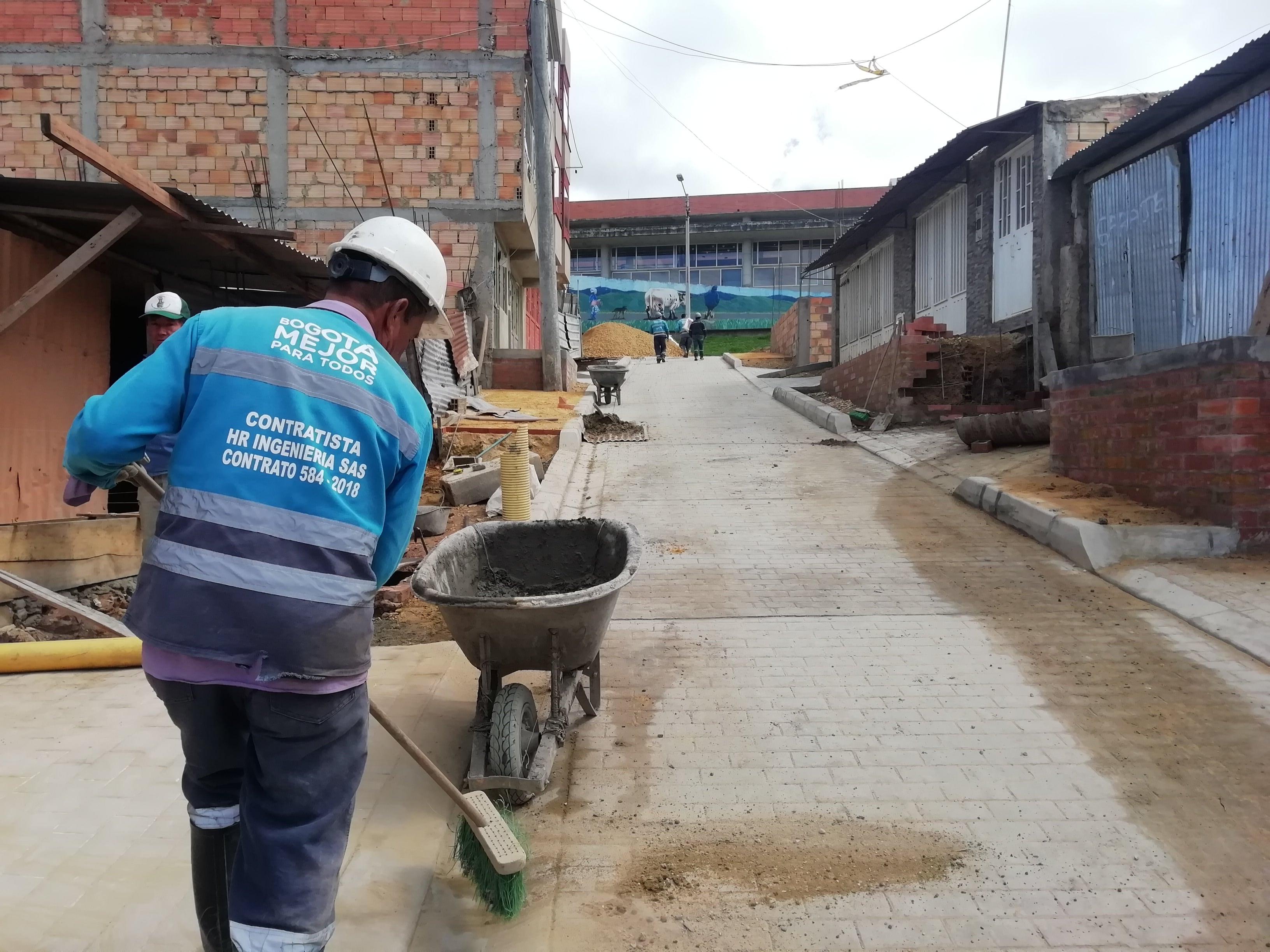 A buen ritmo avanzan obras ejecutadas por la CVP en Usme