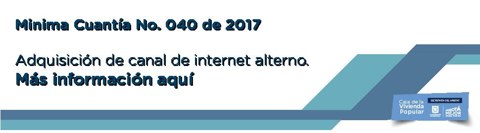 Minima cuantia No 40 2017